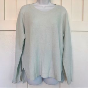 Madewell Light Mint Green Crew Neck Sweater